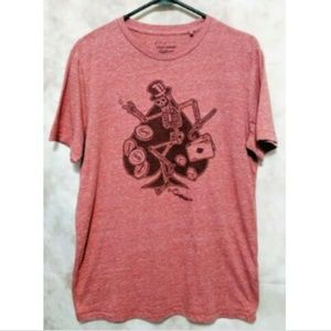 Lucky Brand Graphic T-Shirt Dancing Skeleton